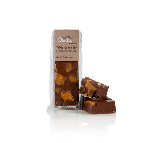 Charles Chocolates, Mini Dark Milk Chocolate Toffee Coffee Bar
