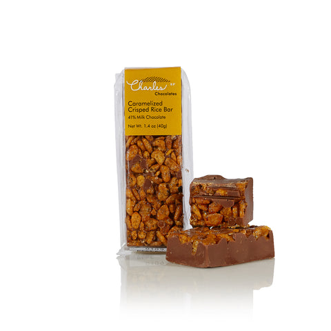 Charles Chocolates, Mini Milk Chocolate Caramelized Crisped Rice Bar