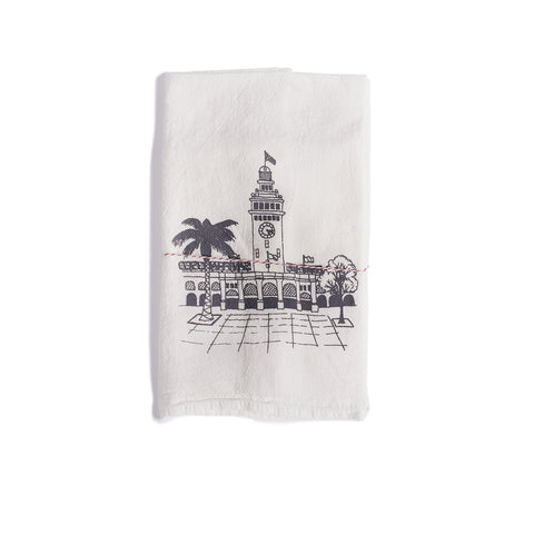 The Heated, Flour Sack Dish Towel, Ferry Building