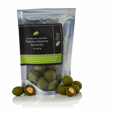 Feve Artisan Chocolatier, Dark Chocolate Matcha Sesame Almonds