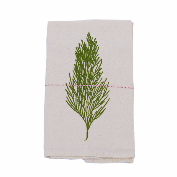 The Heated, Flour Sack Dish Towel, Cedar