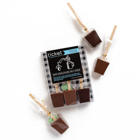 Ticket Chocolate, Hot Chocolate on a Stick Trio