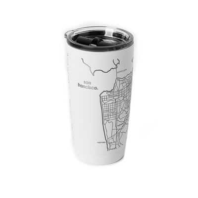 Well Told Design, Map of San Francisco & Oakland Insulated Tumbler