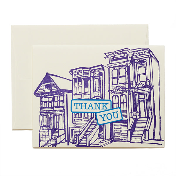 Coffee n Cream Press, Thank You Letterpress Card