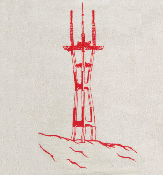 The Heated, Flour Sack Dish Towel, Sutro Tower