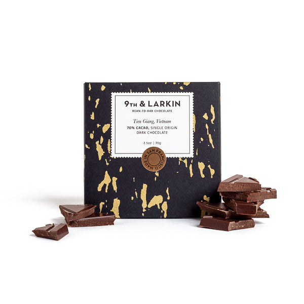 9th & Larkin, Tien Giang Vietnam 70% Dark Chocolate Bar