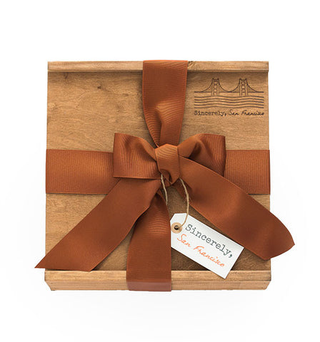 Large Wooden Gift Box (10 x10 x 3.5) 5 items