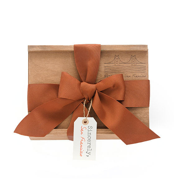 Small Wooden Gift Box (9 x 6.5 x 3.5) 3 items