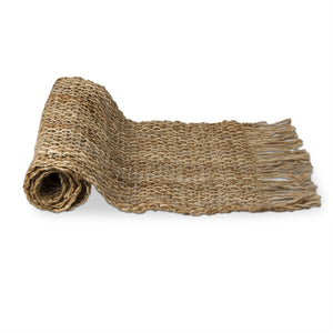 Woven Jute Runner With Fringe
