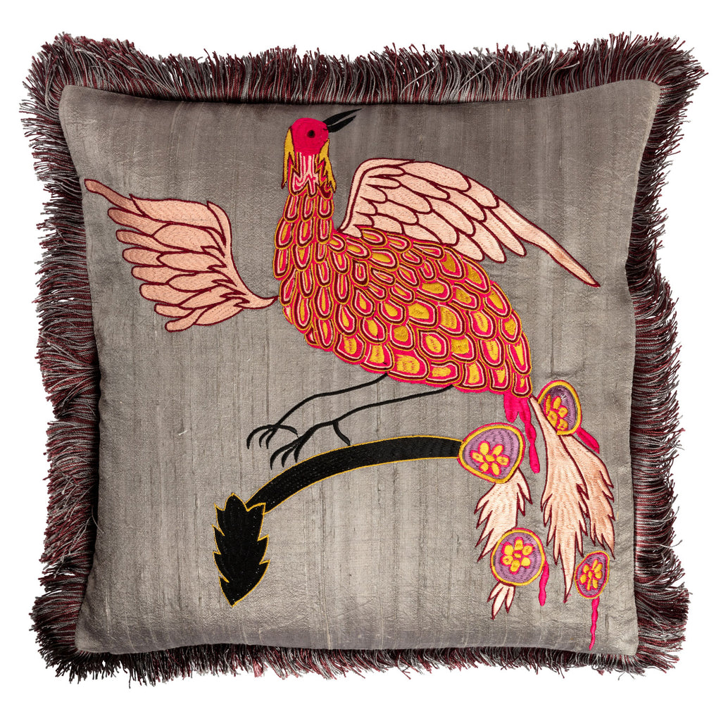 Day Bird of Paradise Silk Cushion Cover