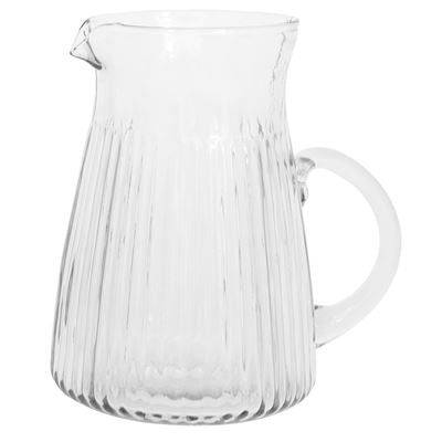 Pitcher with grooves 1500 ml handblown glass