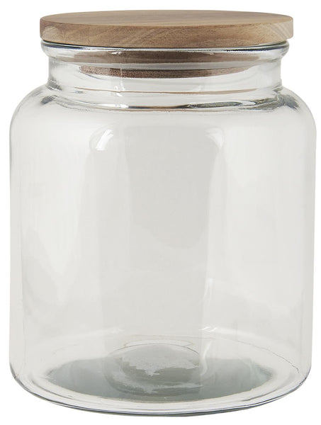 Glass jar w/wooden cover 2350 ml