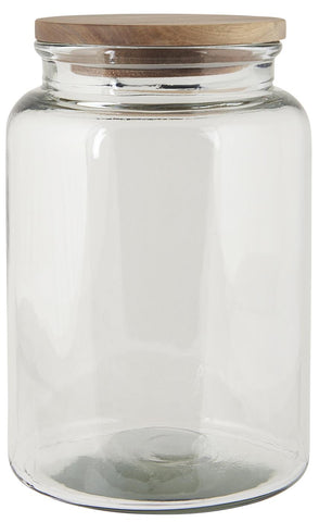 Glass jar w/wooden cover 3000 ml