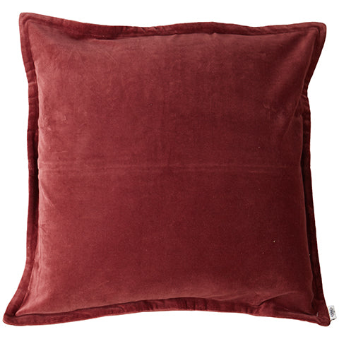 Velvet Cushion Rust Red