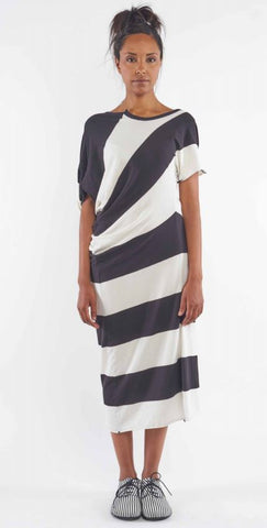 Rundholz SS19 1560908 Dress - wide stripe and also available in black