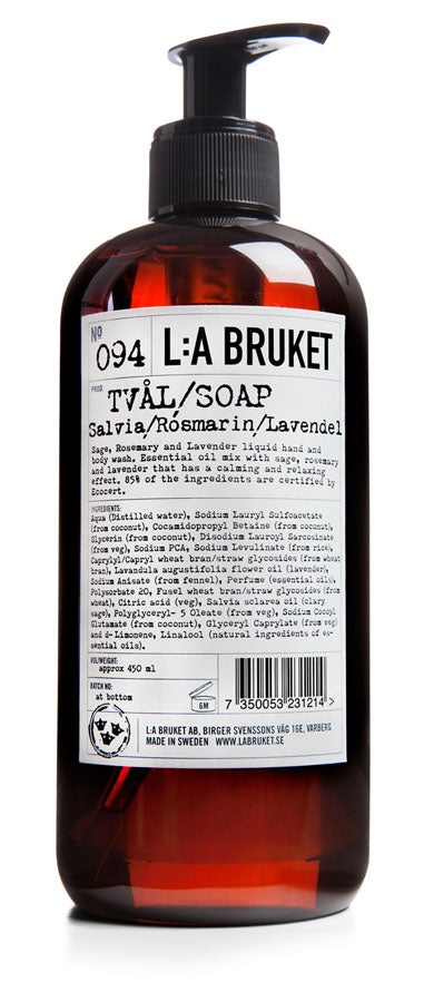 L:A Bruket Hand and Body Wash SALVIA / ROSMARIN / LAVENDEL 450ml