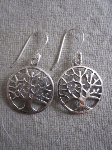 925 silver tree of life earrings