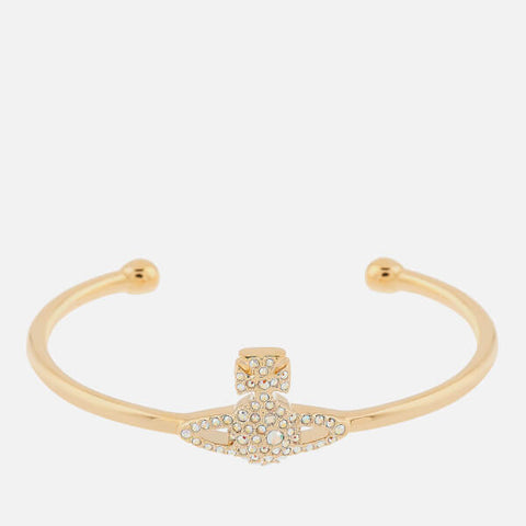 Vivienne Westwood Grace Bas Relief Open Bangle- Gold