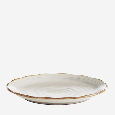 Stoneware Lunch Plate- Grey