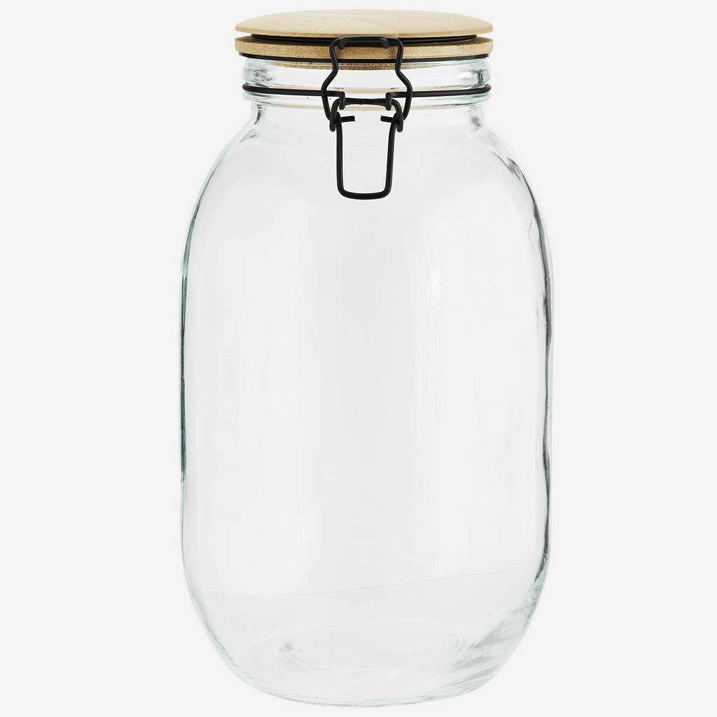 Glass Jar w/ Bamboo Lid - Large