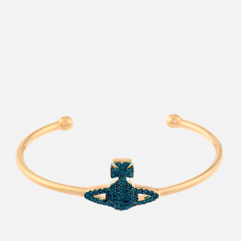Vivienne Westwood Grace Bas Relief Open Bangle- Gold MONTANA