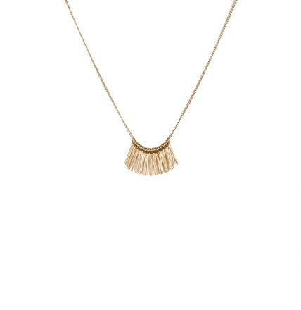 Alicia Fringe Necklace gold