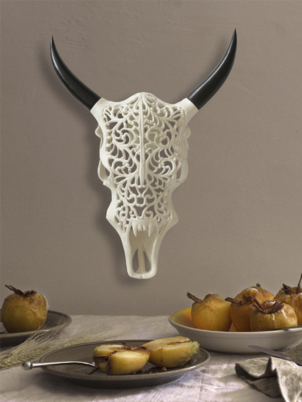 Decorative white Bull Skull