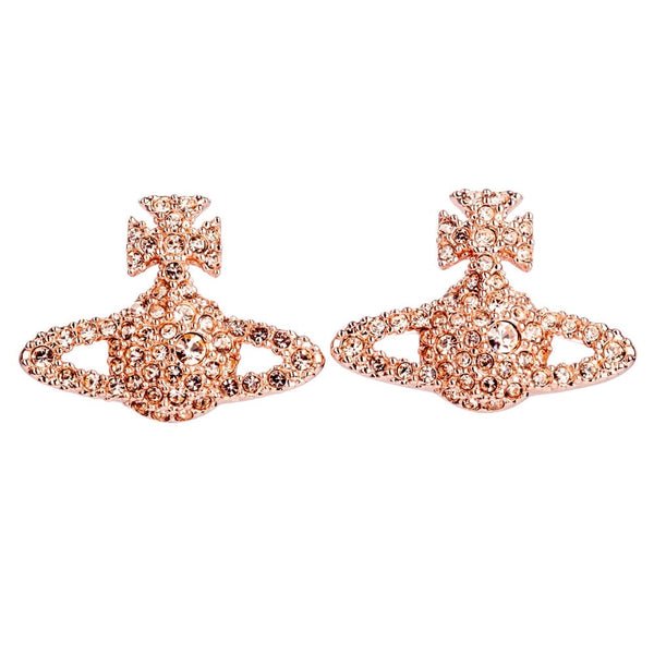 Vivienne Westwood Grace Bas Relief Stud Earrings- Pink Gold