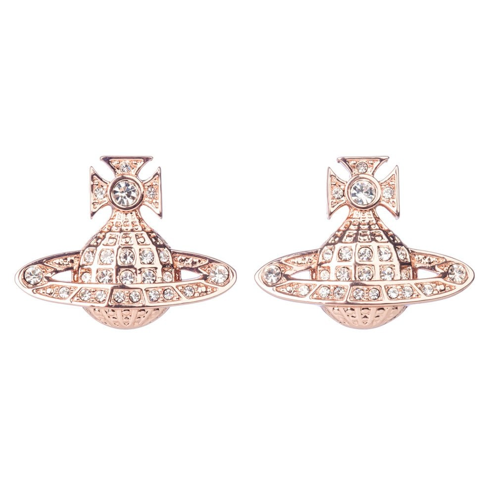 Vivienne Westwood Minnie Bas Relief Earrings - Pink Gold