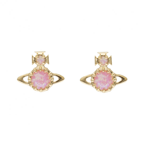 Vivienne Westwood Latifah Earrings- Pink Gold