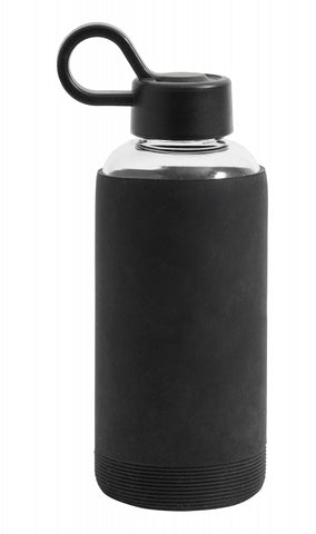 Glass Bottle with Silicone Sleeve - Black