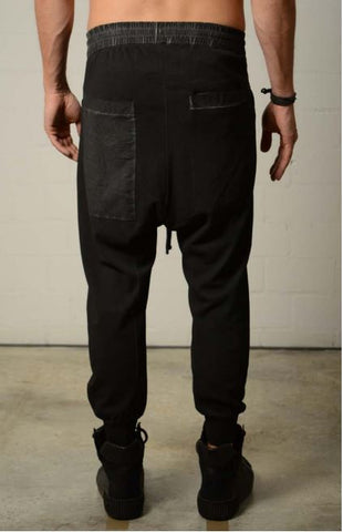 thom/krom  SS20 M ST 186 Mens Trouser Black Oil