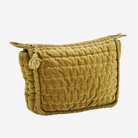 QUILTED VELVET TOILET BAG S