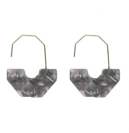 Cassia Geometrical Resin Earrings