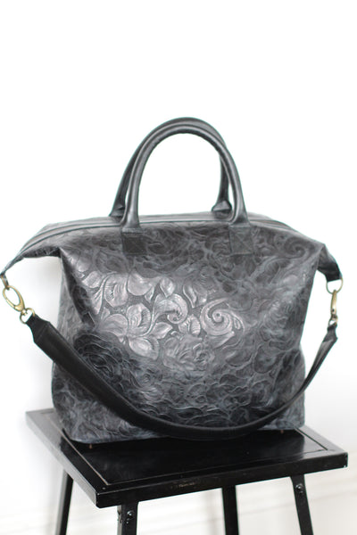 CollardManson leather Bag - Black floral