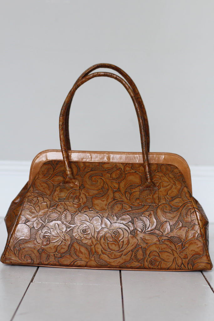 CollardManson Doctor's Bag - Floral Tan