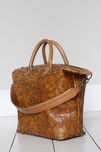 CollardManson Elke leather Bag - Tan floral