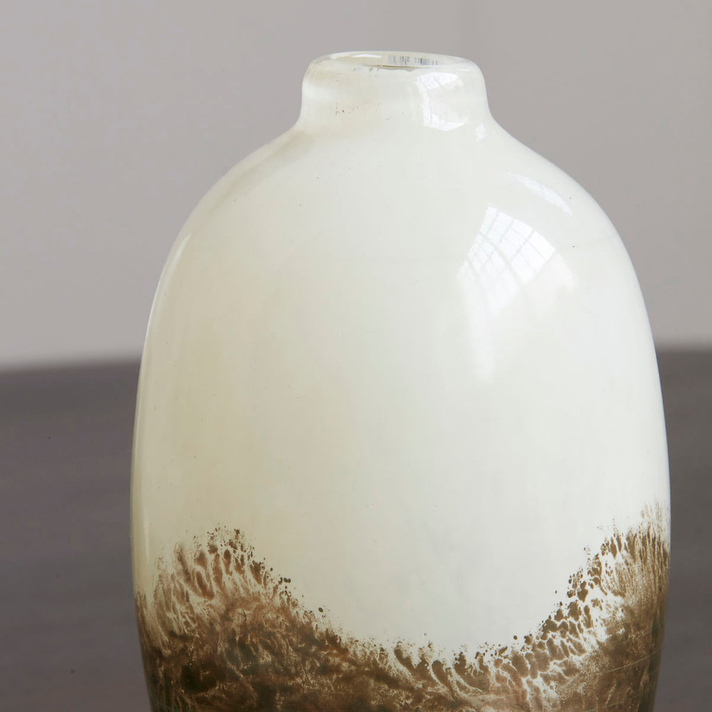 Vase, Earth, Beige/Metallic
