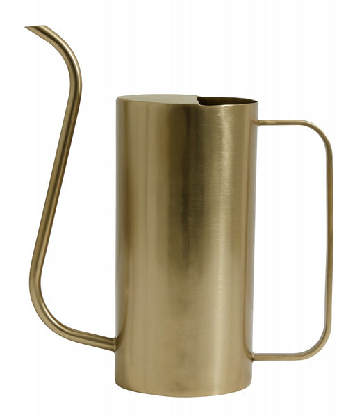 Water pitcher, large, brass finish