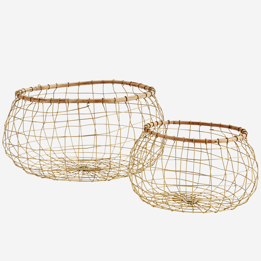 Round Baskets w/ Bamboo
