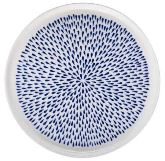 Lunch plate- blue dot - set of 4