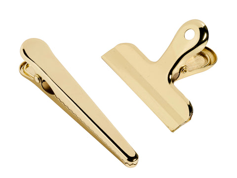 Set of Golden Clips