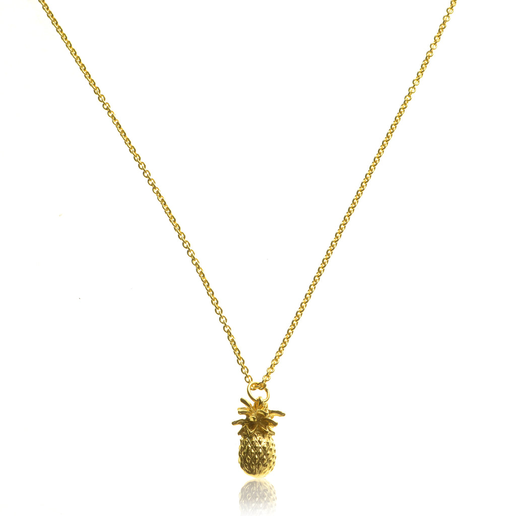 925 Silver gold plated Pineapple Necklace