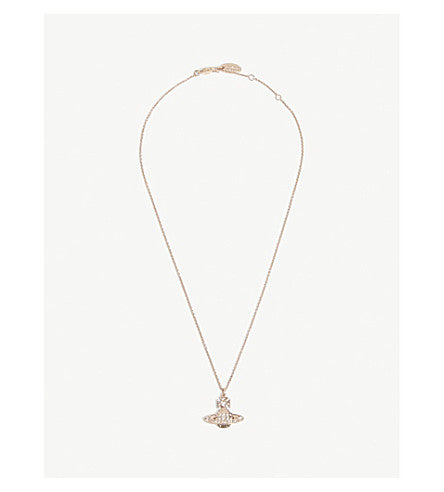 Vivienne Westwood Minnie Bas Relief Pendant- Pink Gold