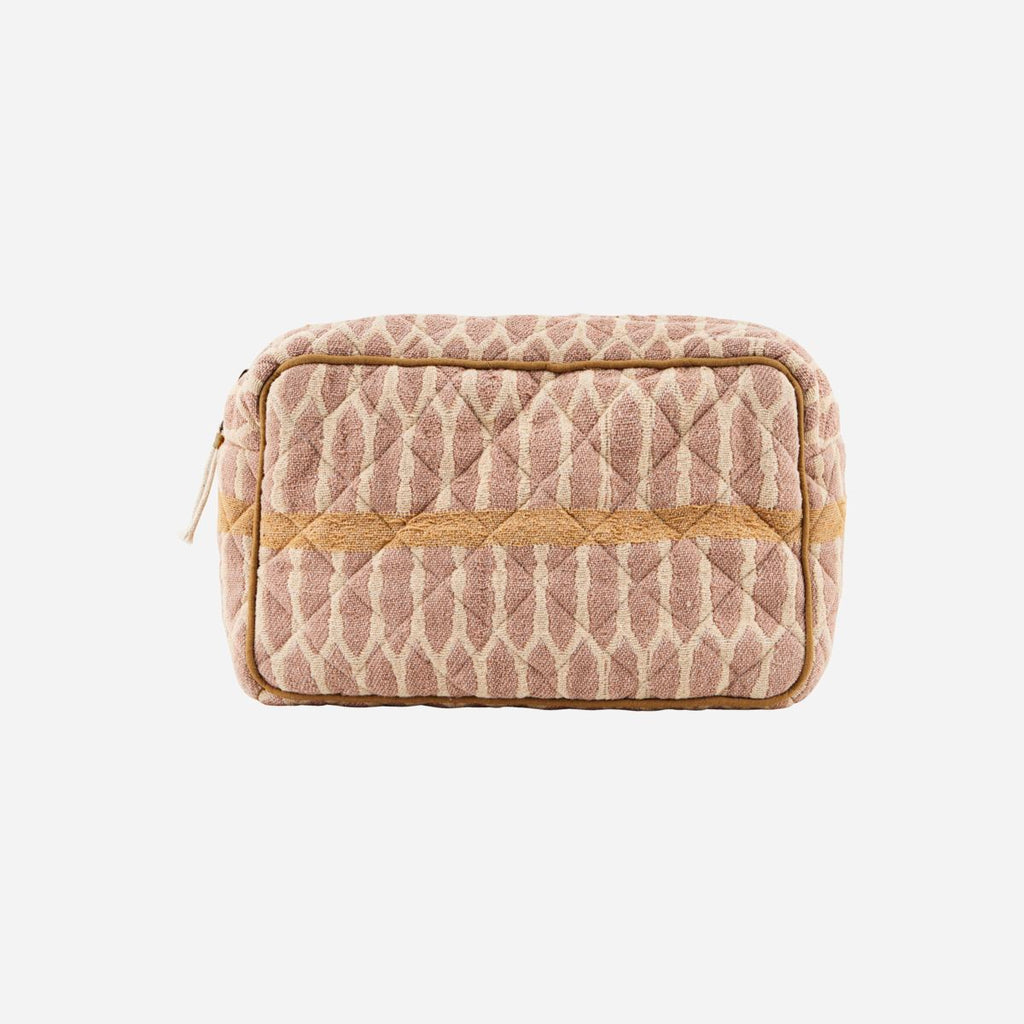 Makeup bag Mustard/Terracotta/Sand - Large