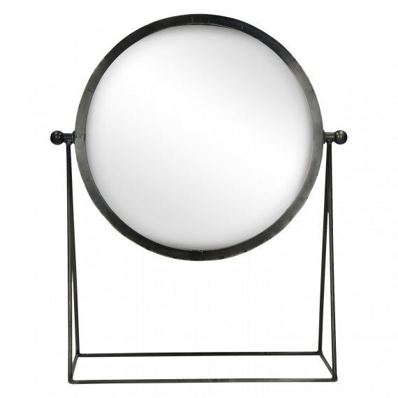 MIRROR ON STAND - METAL - 36X16,5XH43,5 CM