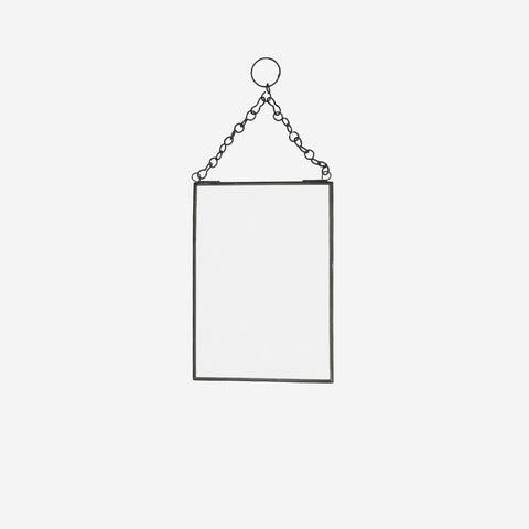 Black Hanging Mirror Small