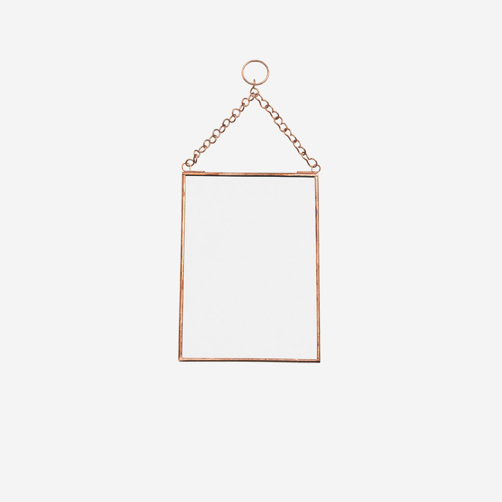 Copper Hanging Mirror Small