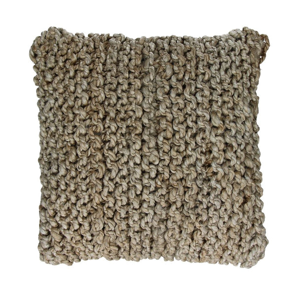NOURIO - CUSHION - JUTE - L 45 X W 45 CM - NATURAL