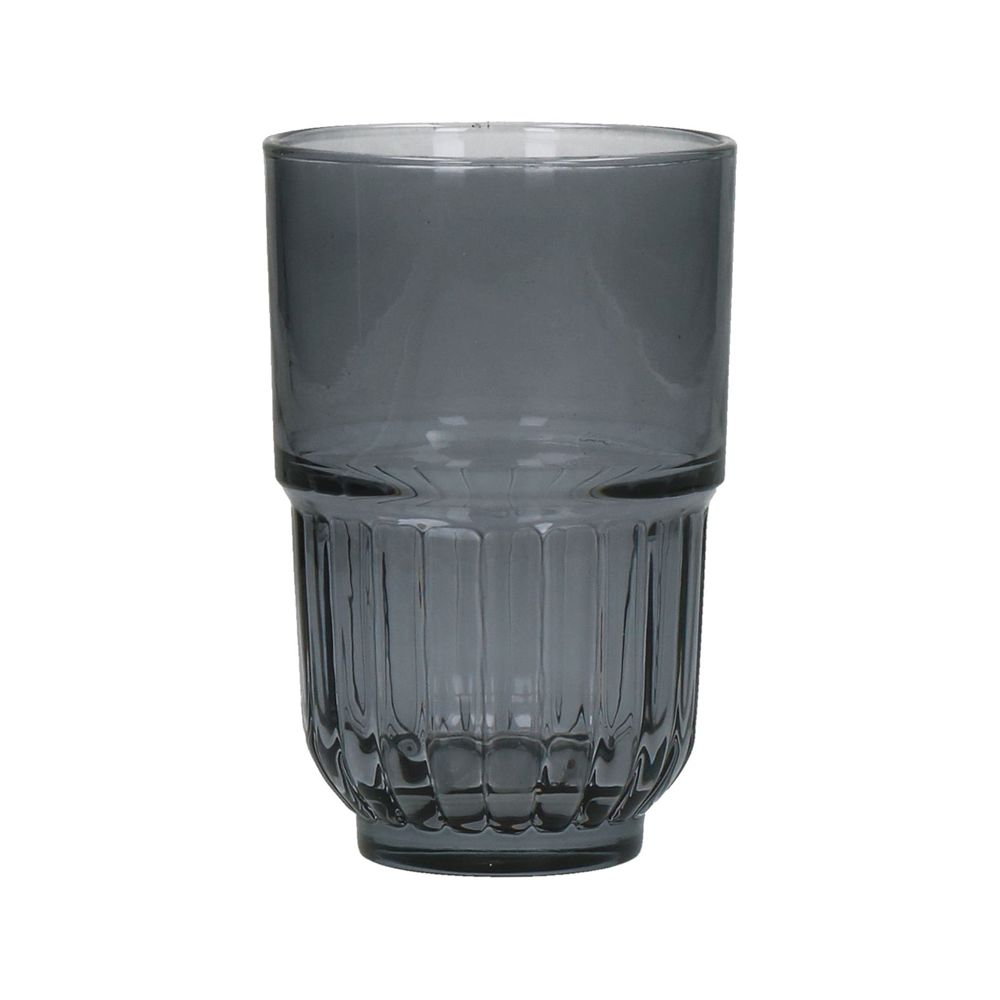 Smoke grey Drinking Glass - set of 4- long